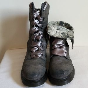 Dr Marten Metallic Aimilie Combat Boots